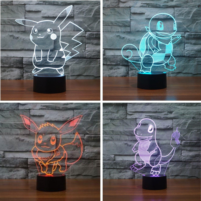 3d Illusion Pokemon Go Lamp Free Shiipping Pokemon 3d Illusions Lamp