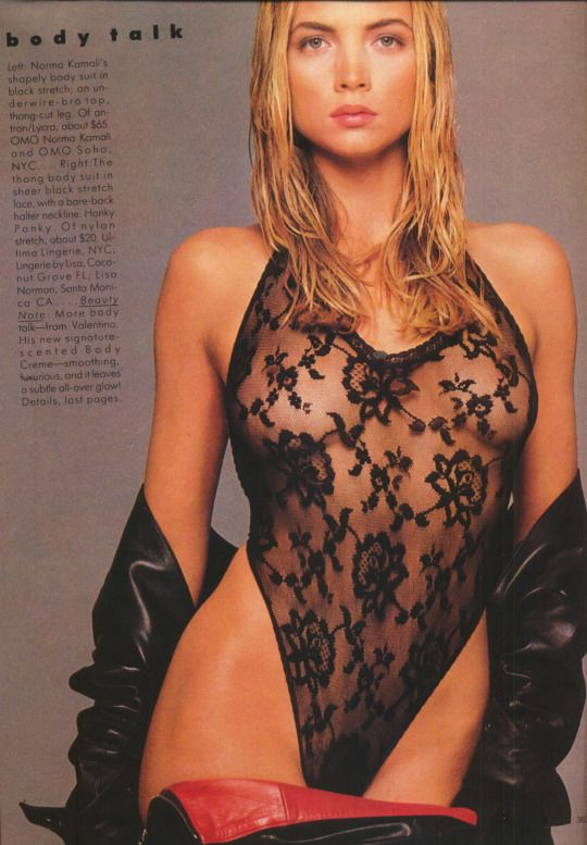 Rachel Williams by Steven Meisel for Vogue, August 1987