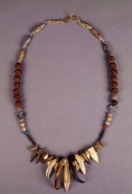 Native American Ute six string bead necklace made from