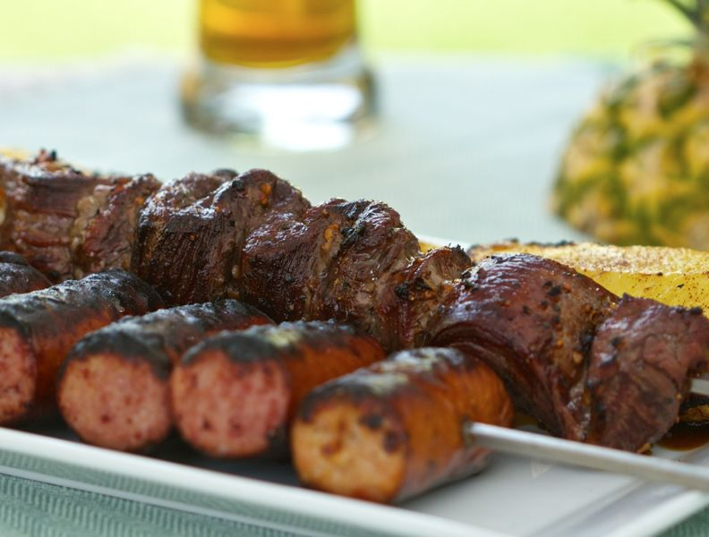Easy Skewered Skirt and Flank Steak | #Grilling | Cooking-Outdoors.com