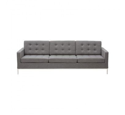 Replica Florence Knoll Sofa Fabric 3 Seater With Images