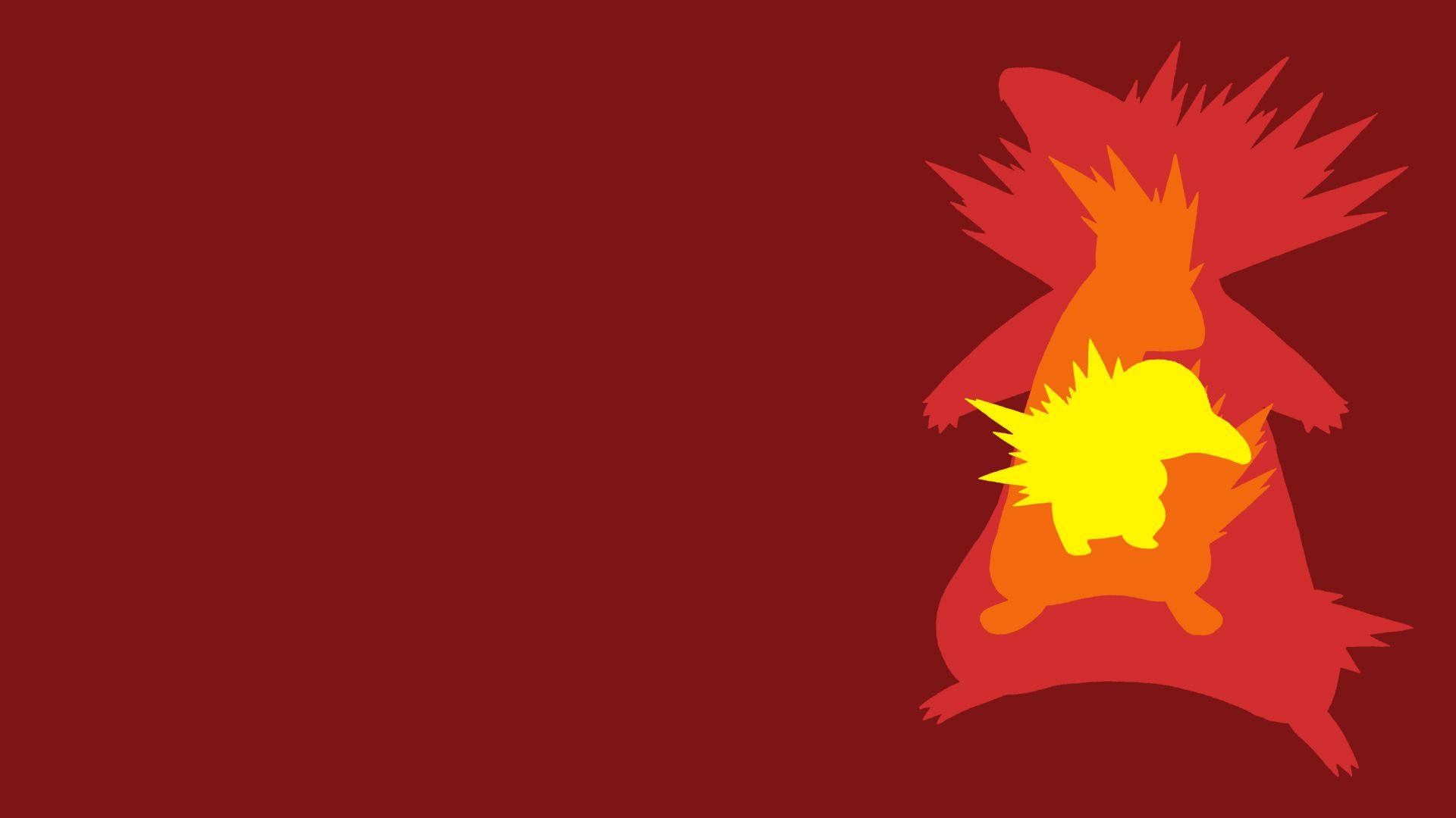 Cyndaquil Evolution Line Minimalist Wallpaper By BrulesCorrupted