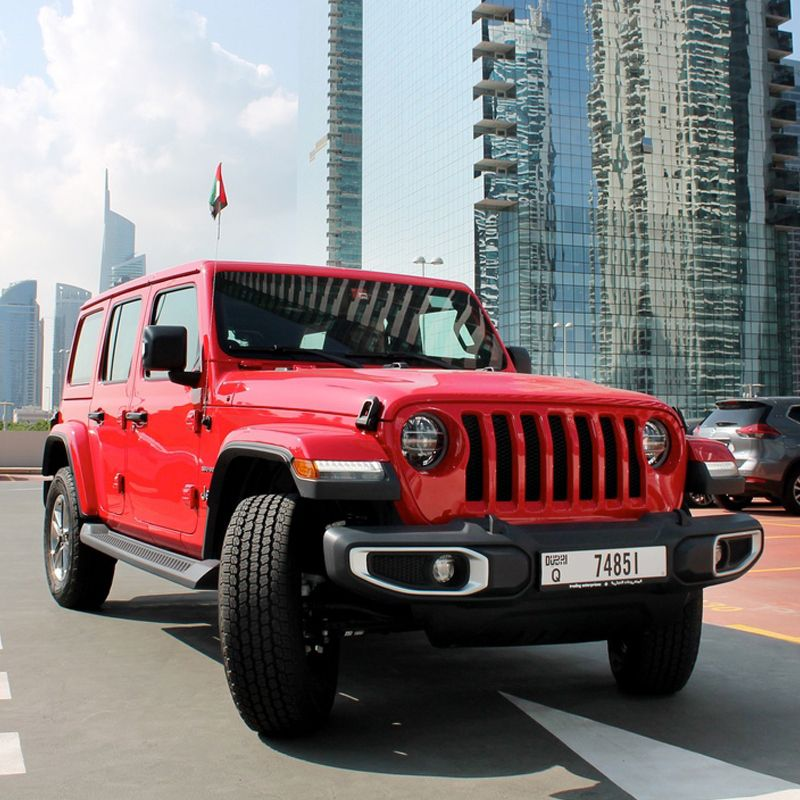Drive The Jeep Wrangler Unlimited Sahara Edition In Dubai