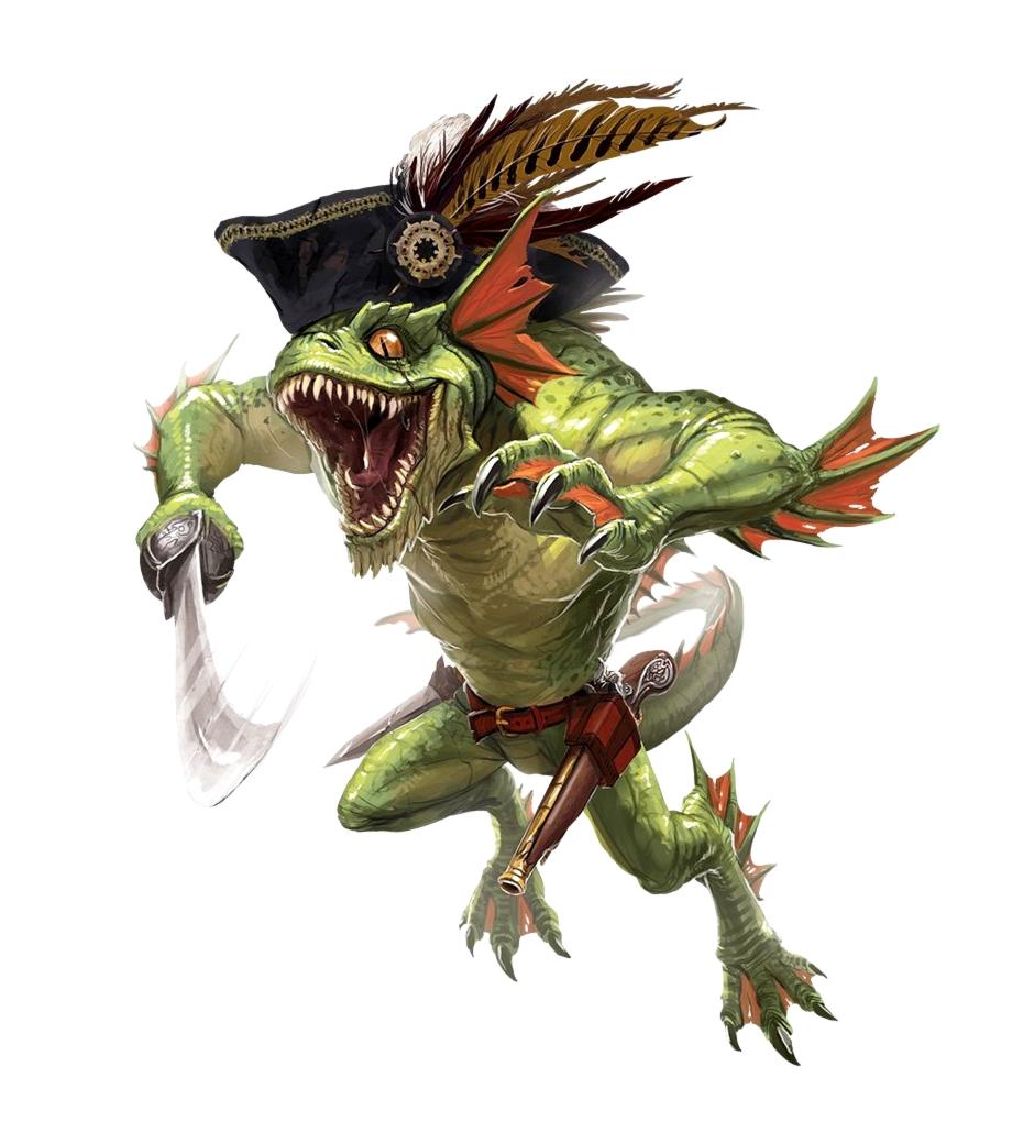 Male Sahuagin Barbarian Pirate Pathfinder Pfrpg Dnd D D