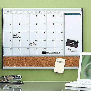 2 W X 1 5 H Magnetic Cork Amp Dry Erase Calendar Whiteboard