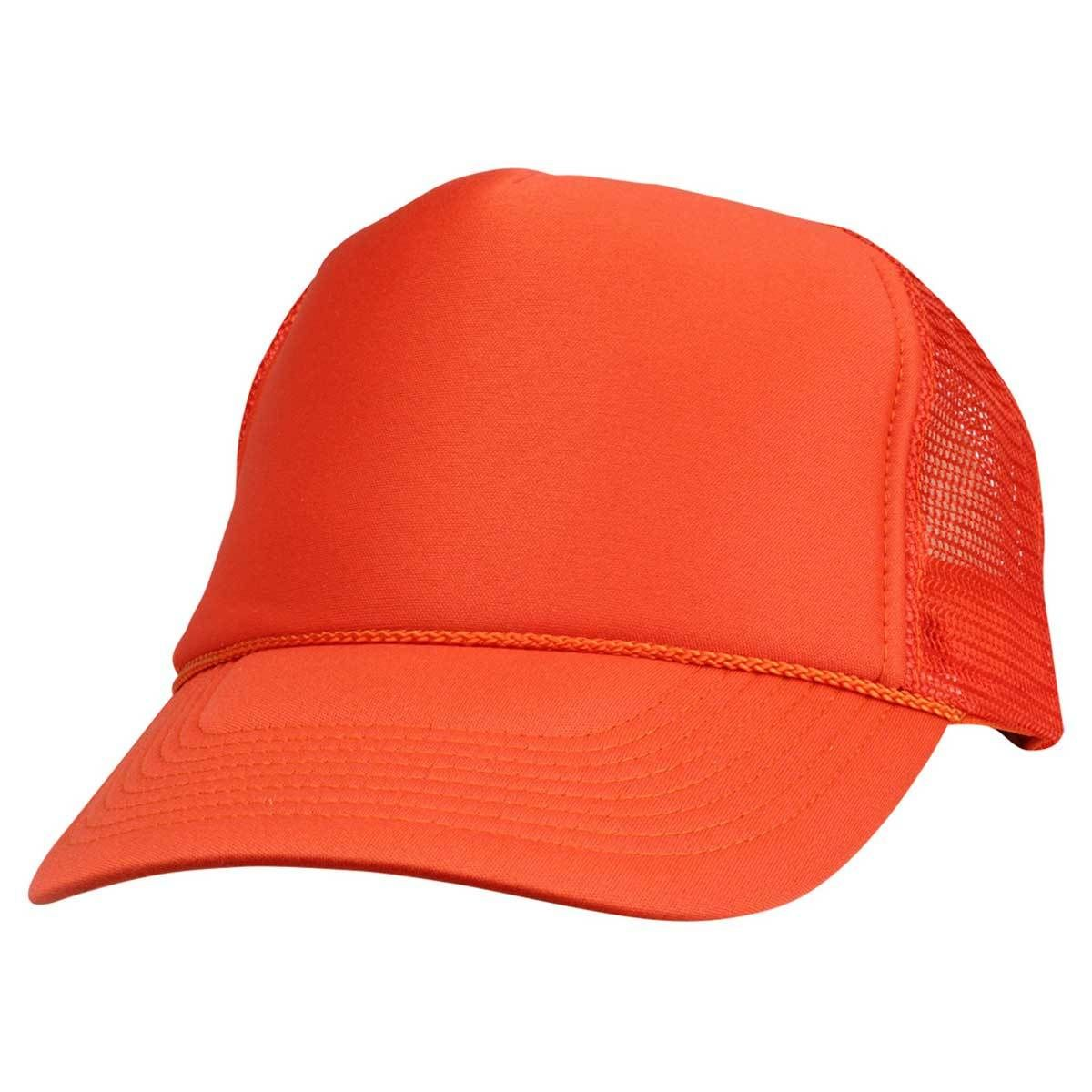 34c77e84 DALIX Trucker Cap Mesh Hat with Solid Colors and Adjustable Strap and Small  Braid
