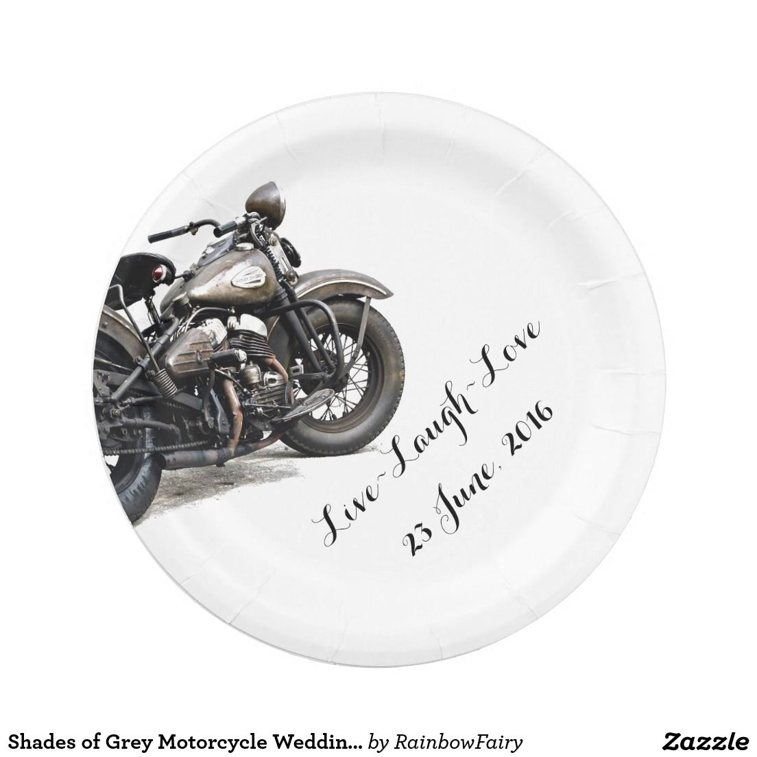Shades of Grey Motorcycle Wedding Plates  sc 1 st  Pinterest & Shades of Grey Motorcycle Wedding Plates | Wedding plates and Weddings