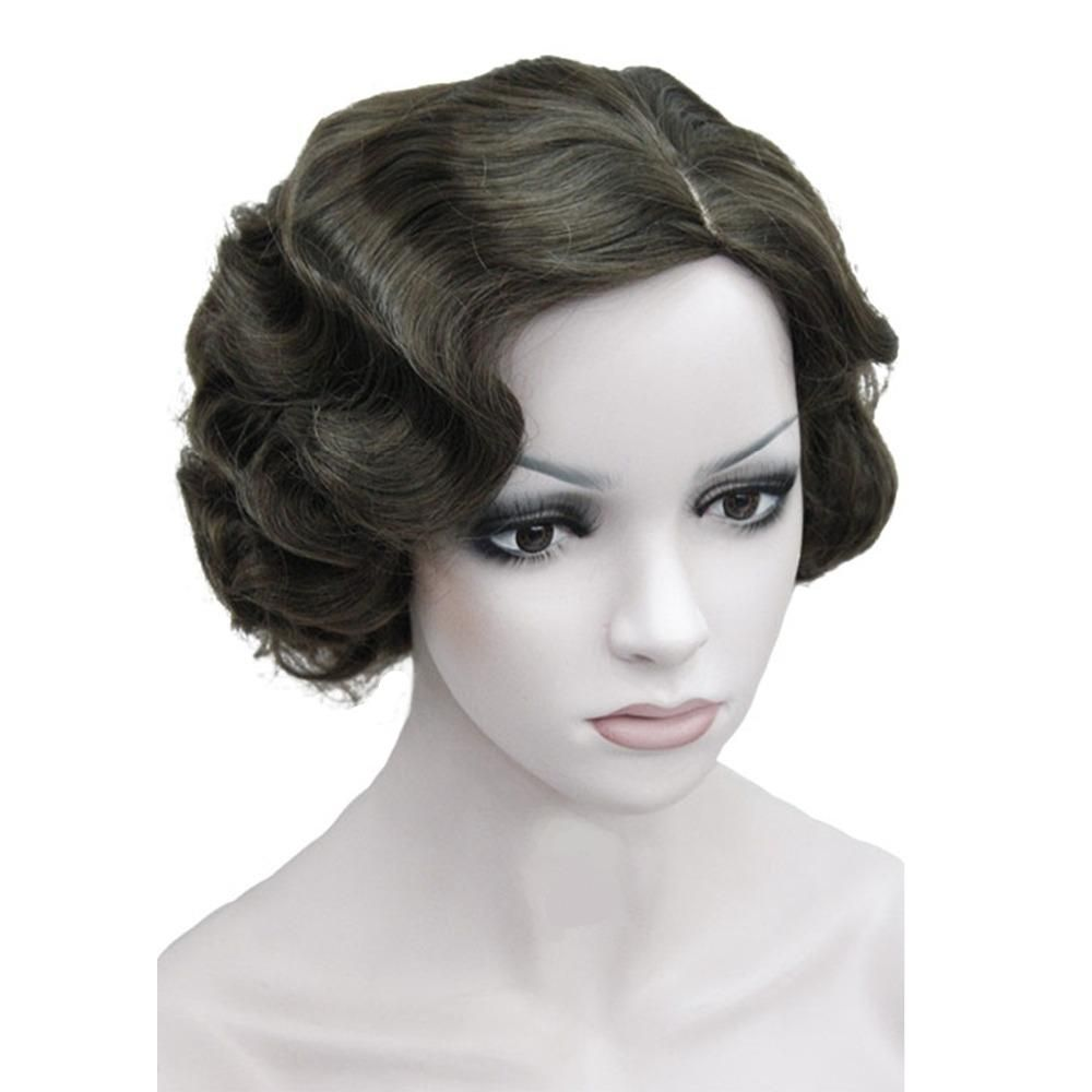 flapper style hair retro synthetic wig flapper hairstyles finger wave wigs 4634