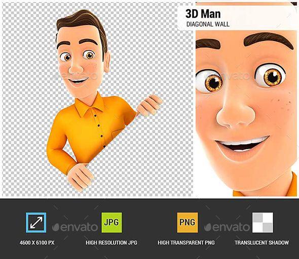 3D Man Behind Diagonal Wall. 3D man render. #design #3D #3DModel #3DRender #3DCharacter #modelling #VR #advertisement #behind #blank #board #business #businessman #cartoon #character #concept #corner #diagonal #graphics #man #manager #marketing #message #orange #people #person #presentation #render #shirt #wall