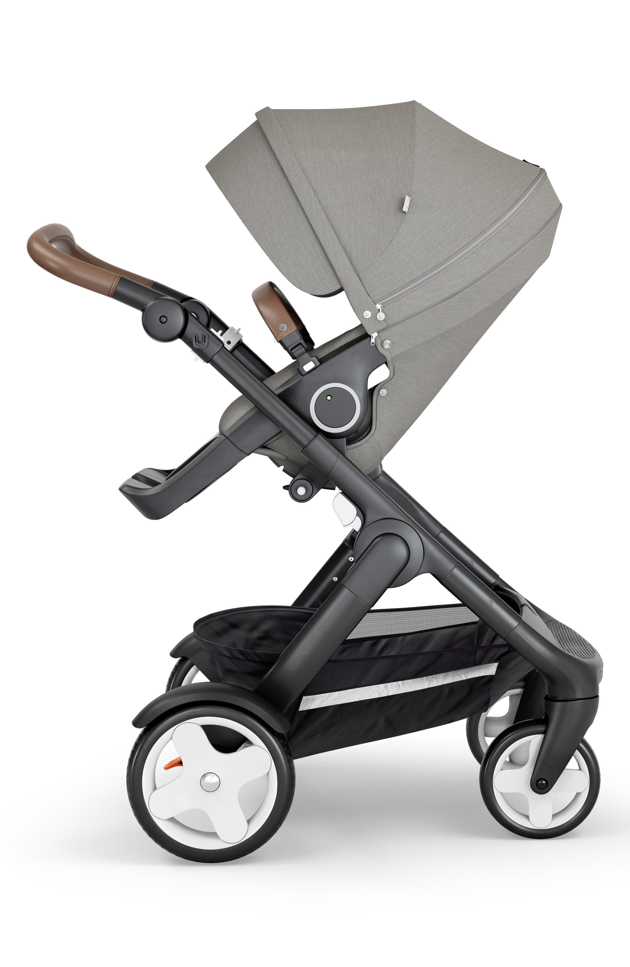 Black soft Fabric Handle Cover Chassis To fit STOKKE Baby Child strollers NEW