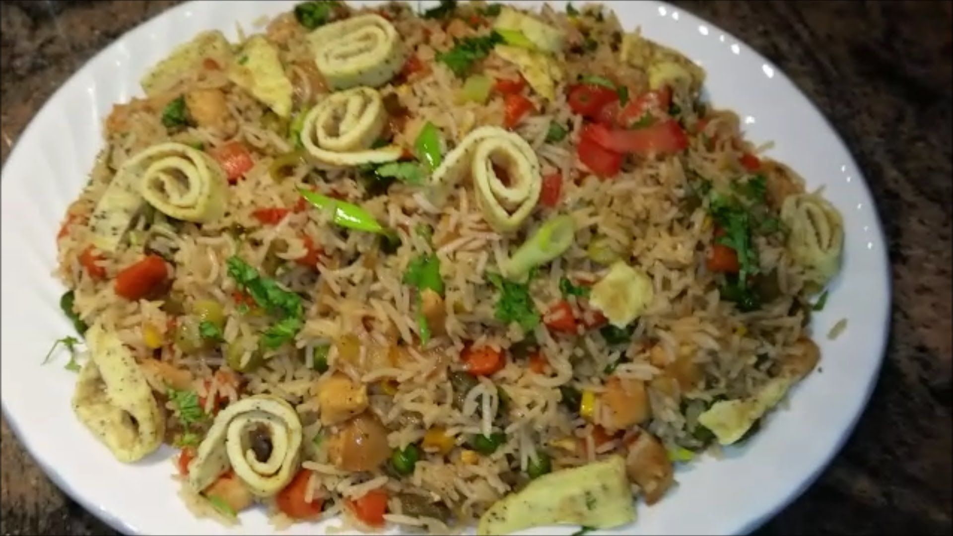 How to make chinese chicken fried rice indian style fried rice how to make chinese chicken fried rice indian style fried rice recipe forumfinder Image collections