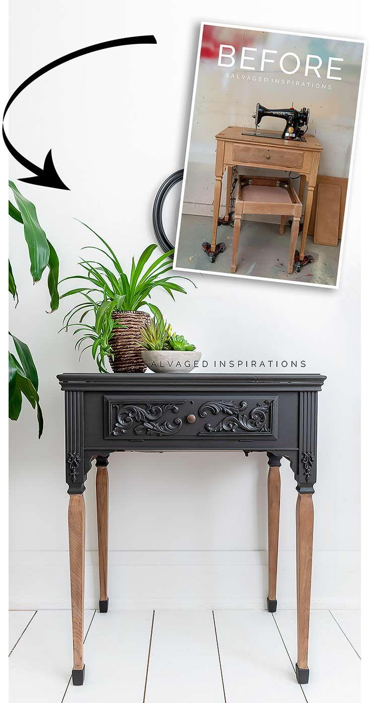 Singer Sewing Table Makeover In 2020 Singer Sewing Tables Furniture Makeover Inspiration Vintage Furniture Makeover