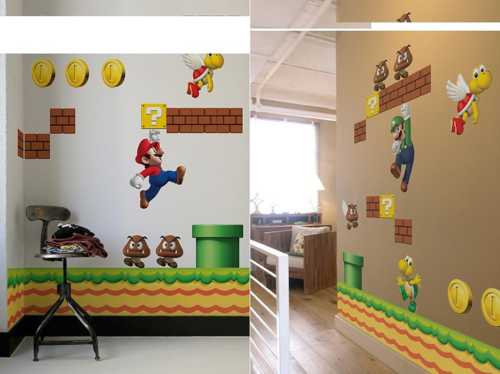 Good Super Mario Bros Wall Decals. Super Cute For A Kids Play Room Or Bedrm Awesome Design