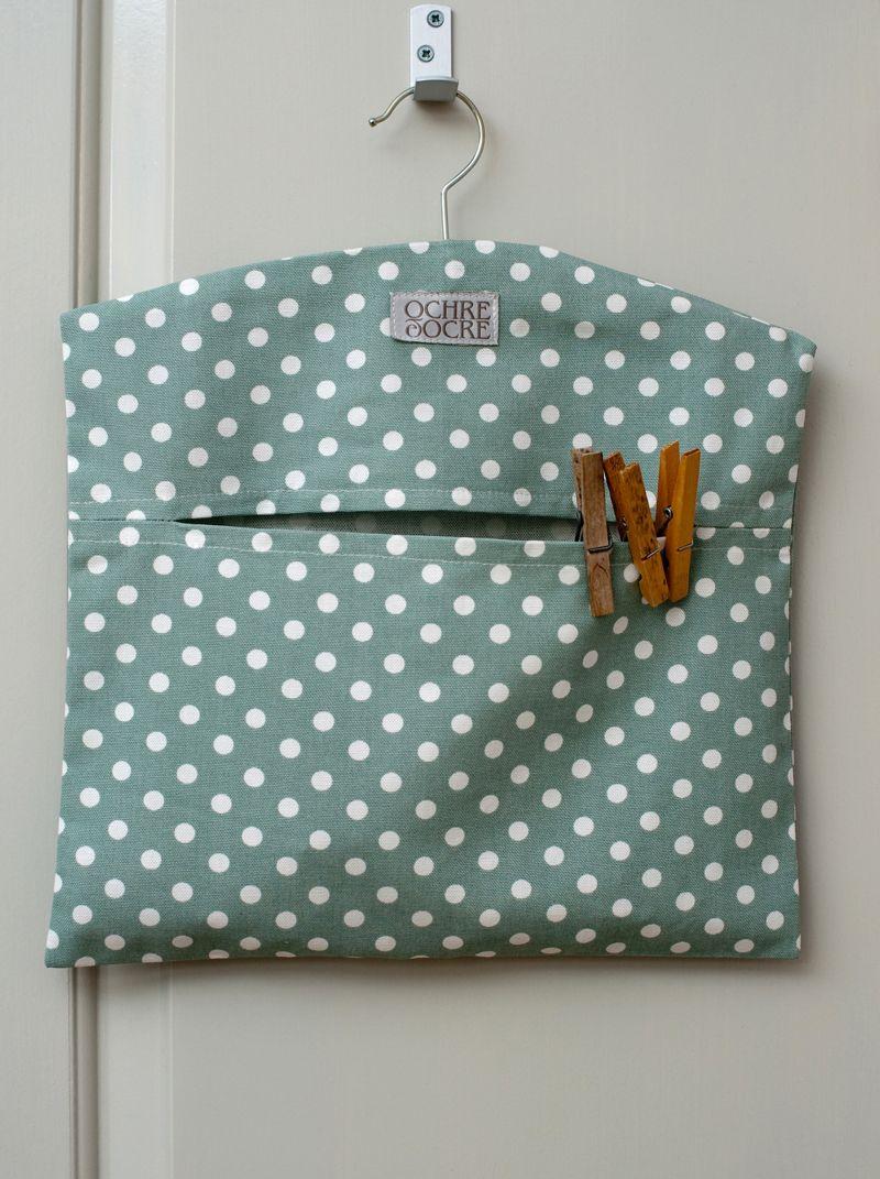 Ochre & Ocre Organic Cotton Peg Bag - Madelaine: Madelaine Sage ...