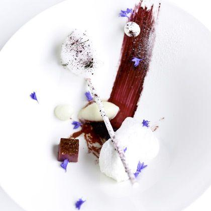 Beautiful dessert served in a restaurant in Helsinki, Finland.