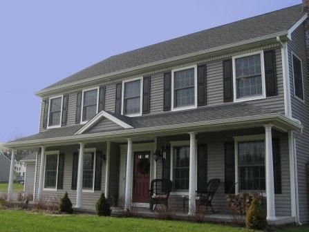Colonial Hpuse With Porch Beautiful Front Porch Center