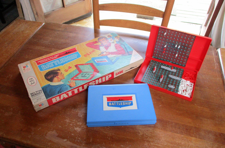 Battleship Game 1967 Vintage Board Game Milton Bradley