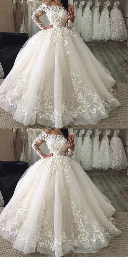 Designer Hochzeitskleider mit Ärmel | Tülle Brautkleider Mit Spitze Online