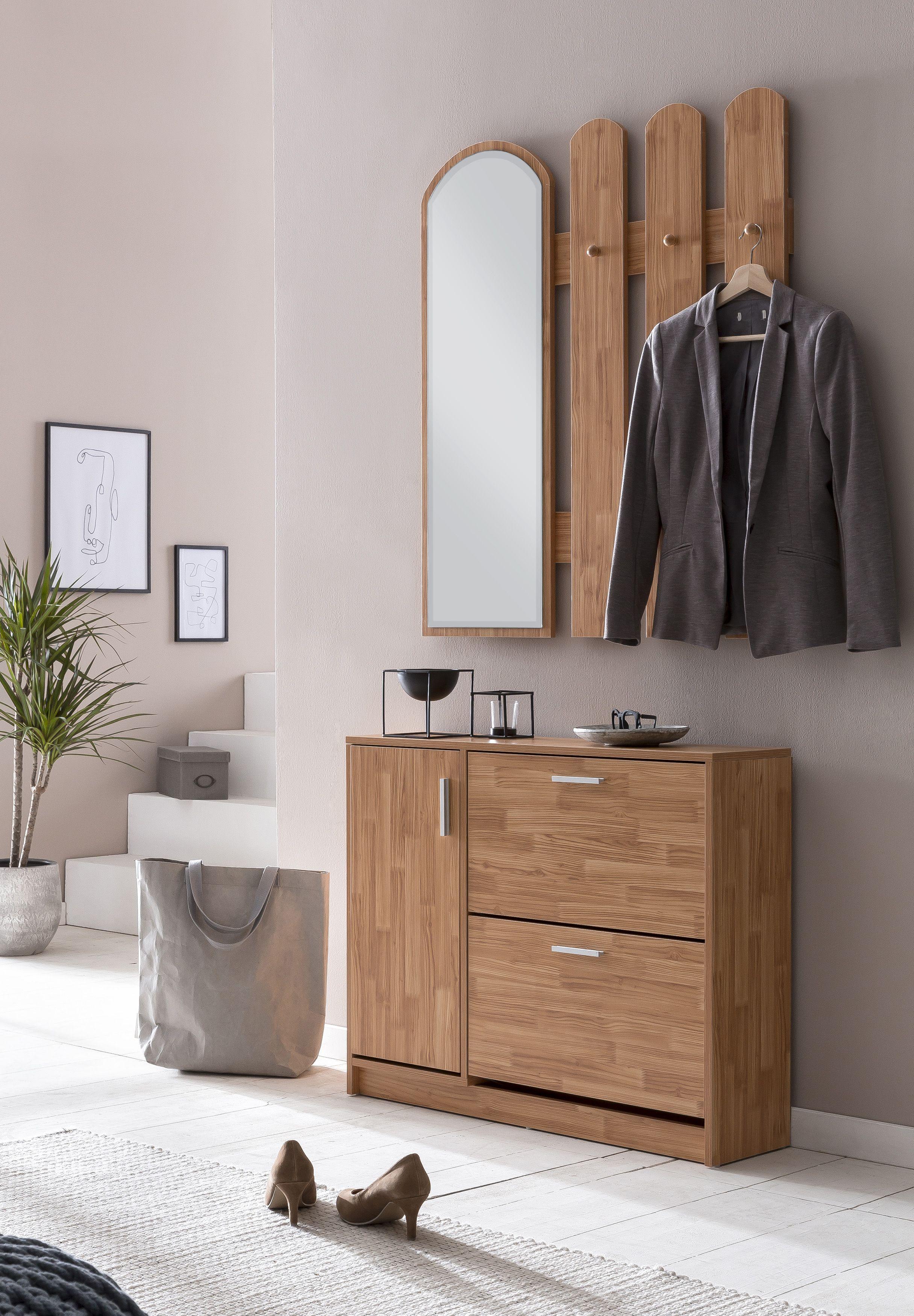Wohnling Garderobe In Buche Wl5 820 Aus Melaminharzbeschichteter Spanplatte Wardrobe