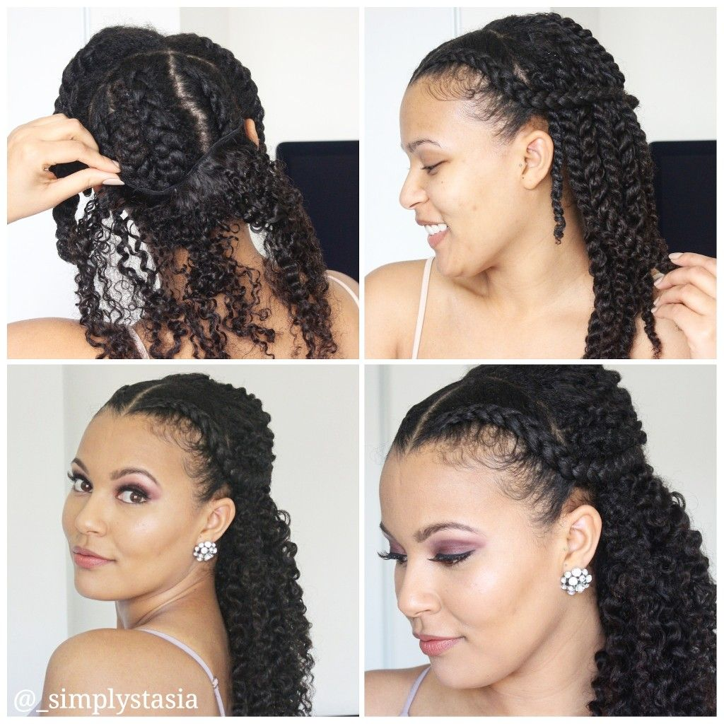 Formal Natural Hairstyle With Curly Clip Ins Natural Hair Styles Protective Hairstyles For Natural Hair Curly Clip Ins