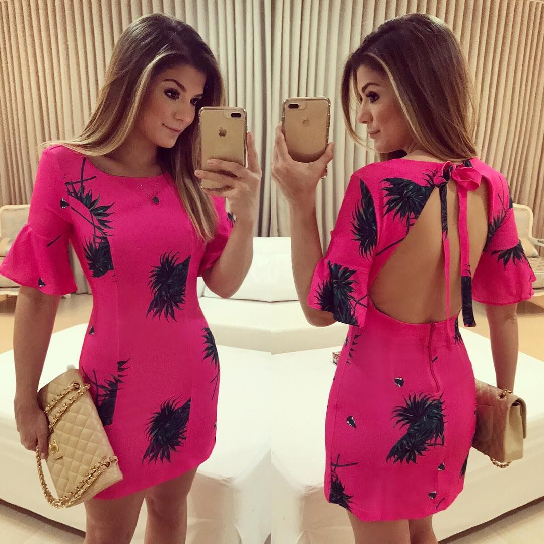 9f0f52d89b7  Pink mood   Vestido  anahovastore Estampa lançamento de verão da marca!