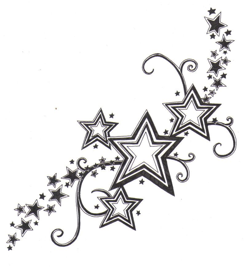 Dessin tatouage etoile dt3e6ny pyrogravure pinterest motifs oreilles et designs de tatouage - Tatouage etoile signification ...
