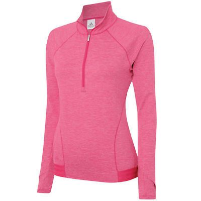 official photos a0e14 2dcb8 Coats and Jackets 181145 New Lady Adidas Golf Advance Heathered Rangewear  Zip Jacket Pink Small