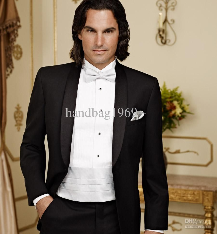Best Selling Groom Tuxedos Men Wedding Dress Prom dress Best man ...
