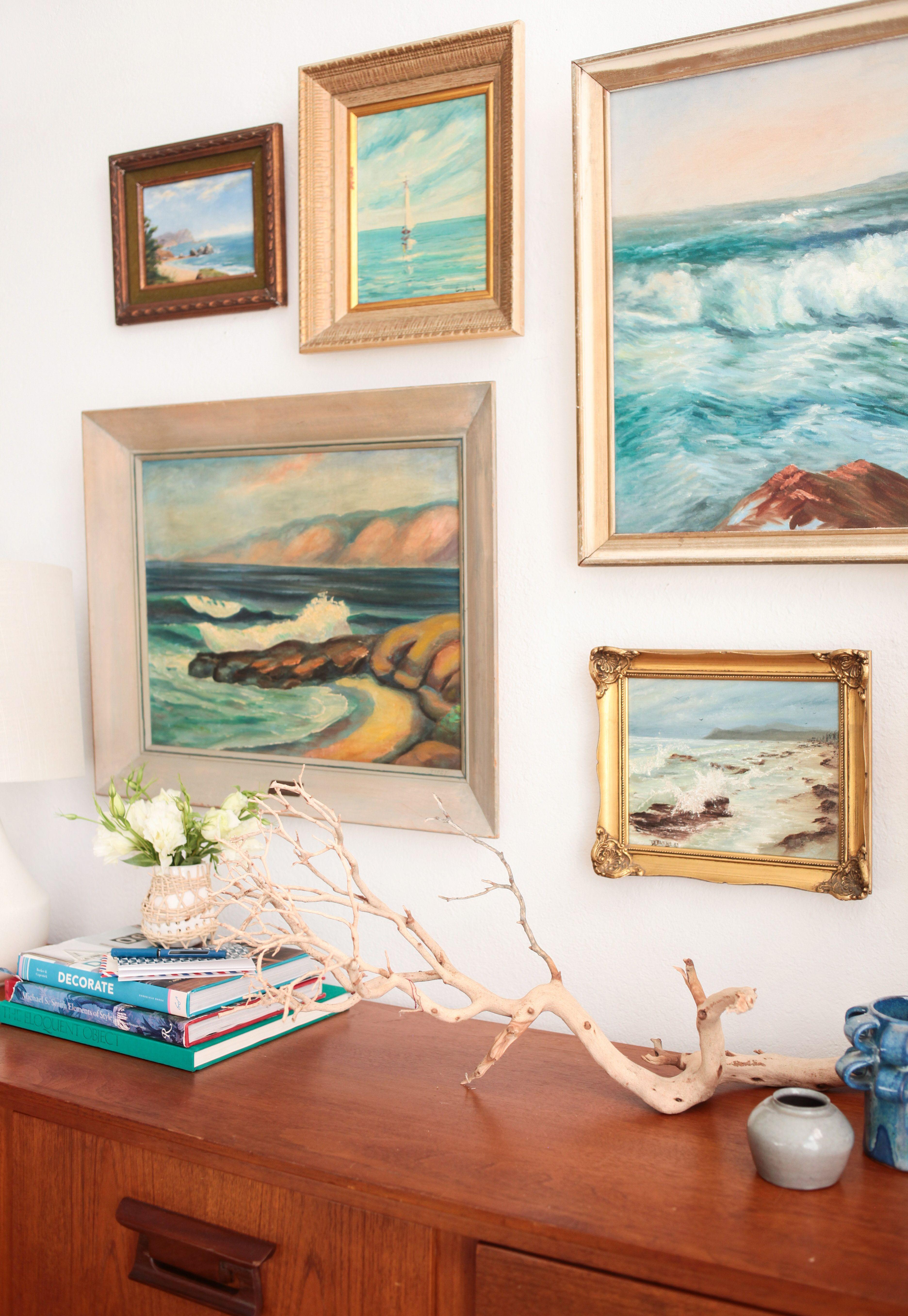 1 Credenza 4 Ways Mid Century Modern Coastal Vintage Seascape