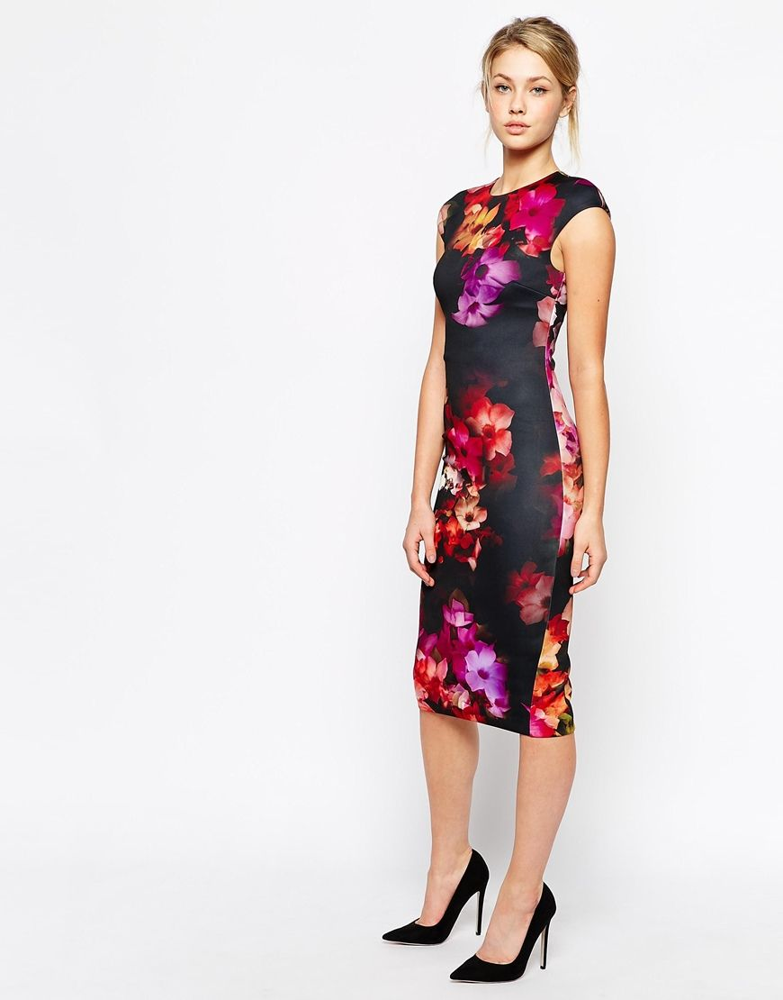 c784547eae31 Ted Baker Midi Dress in Cascading Floral Print