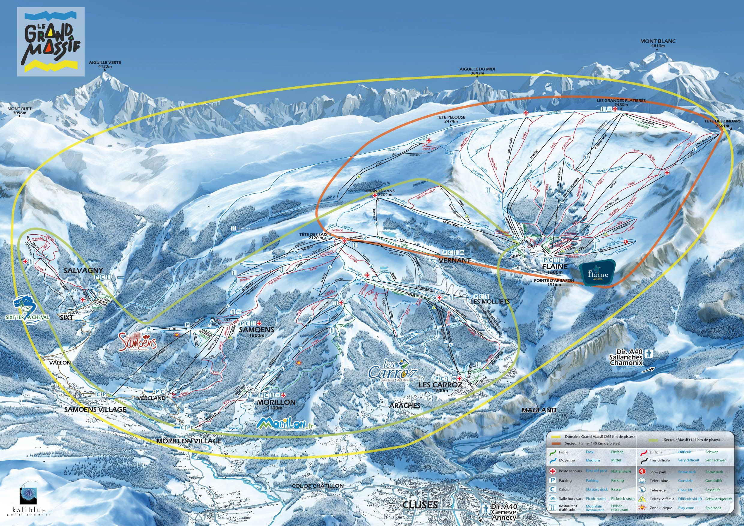 Piste map La Clusaz Pinterest