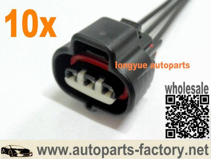 Longyue 10pcs Manifold Absolute Pressure Sensor Connector Wire Harness 6 Diesel Oil Oil Pressure Sensor