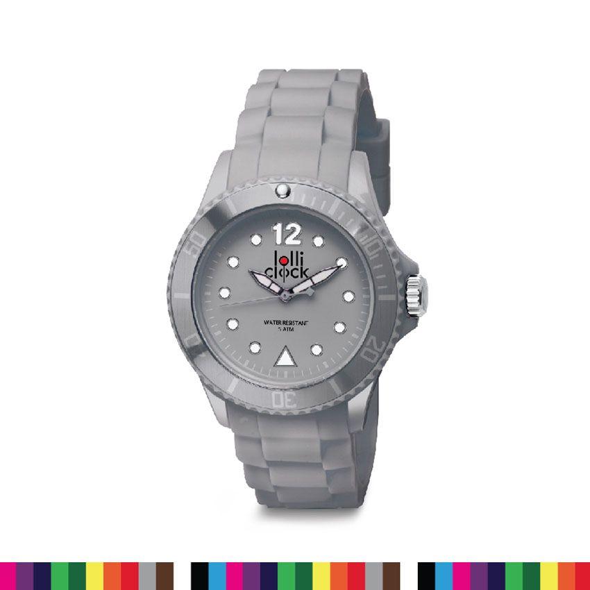 f898cd094446 Reloj de Pulso Lolliclock con Indicadores en Alto Relieve - Gris https