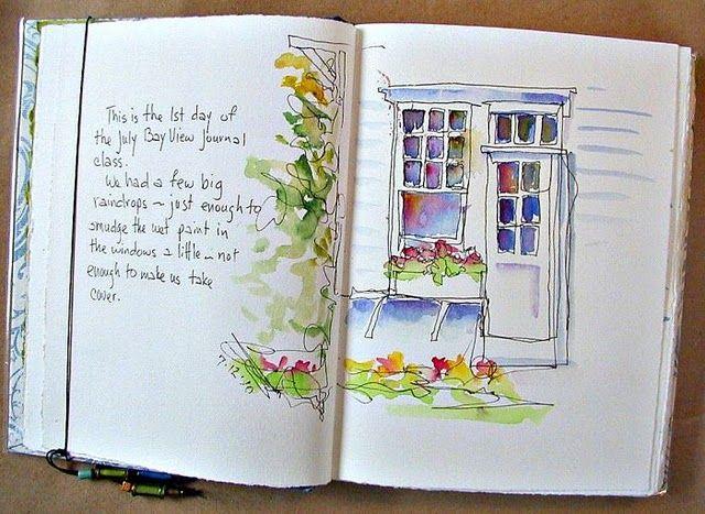 Catherinestudio Blogspot Watercolor Journal Sketch Book Art