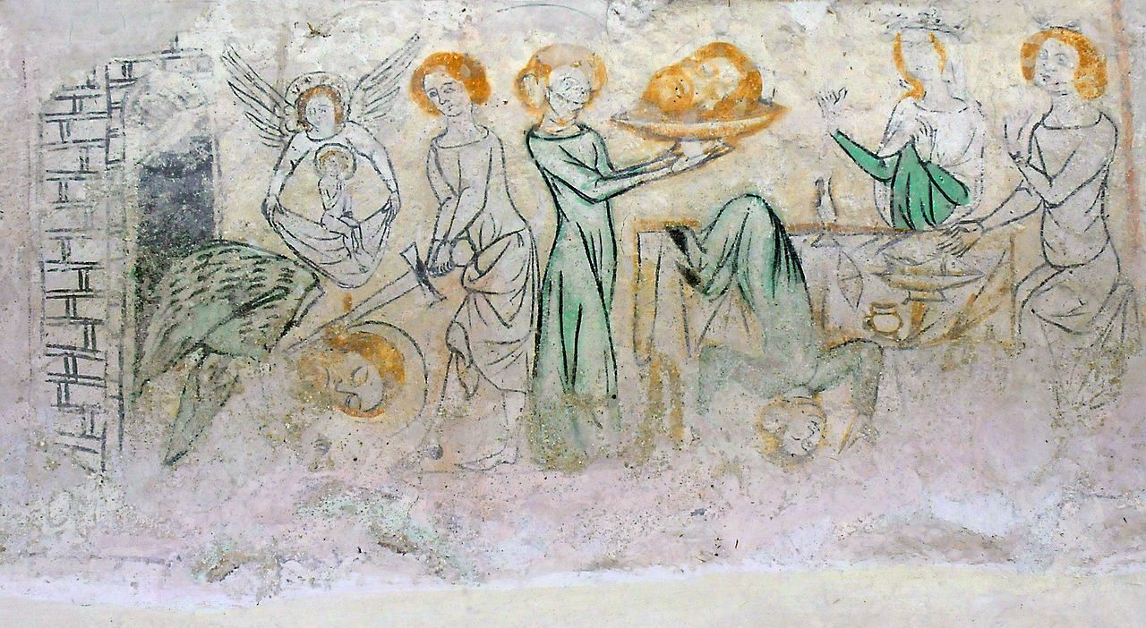Medieval dance of salome fresco in the knappenkirche medieval dance of salome fresco in the knappenkirche oberzeiring austria possibly wall mural amipublicfo Image collections