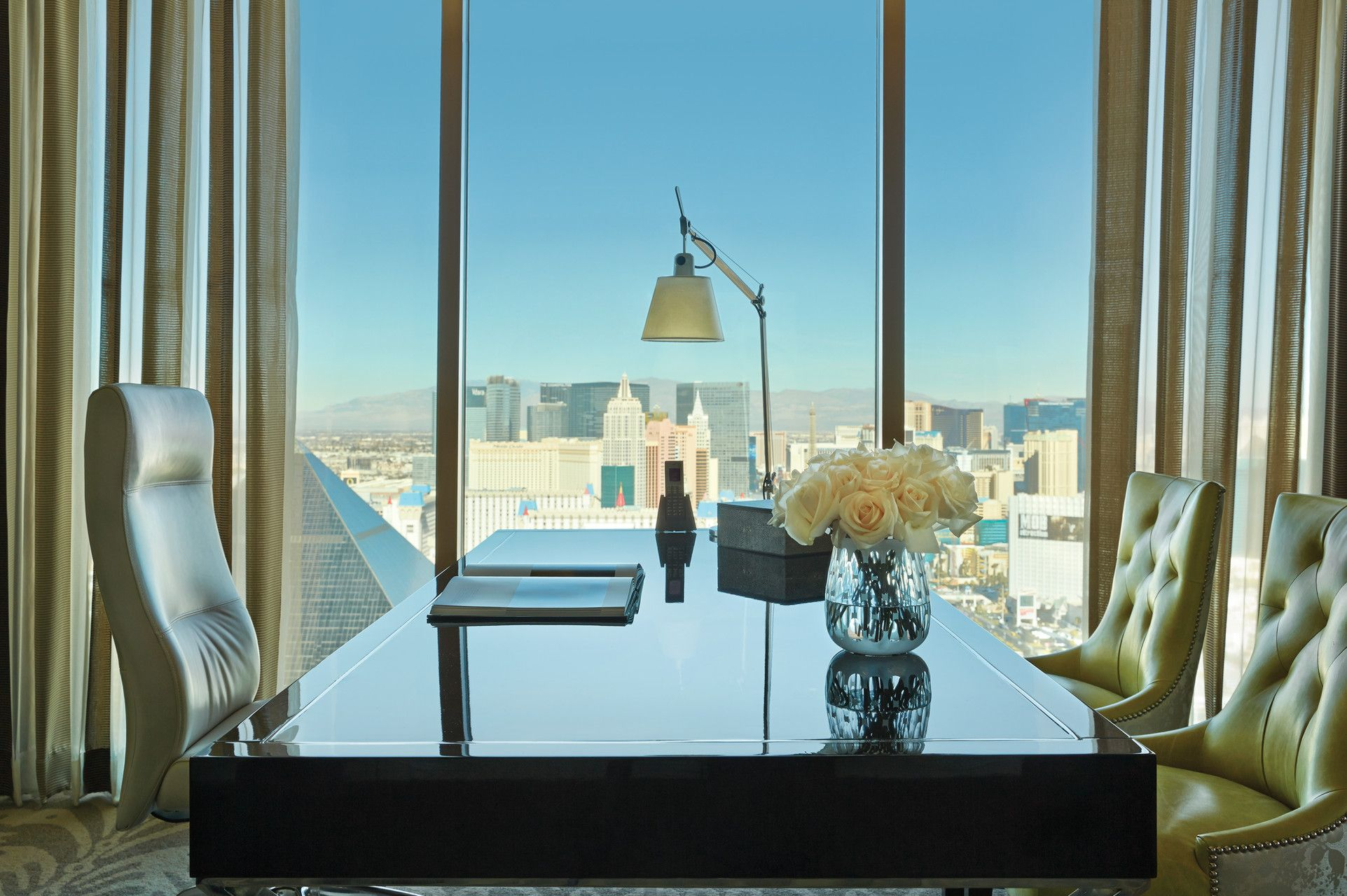 Presidential Strip-View Suite Desk and Chairs | The Suite Life ...
