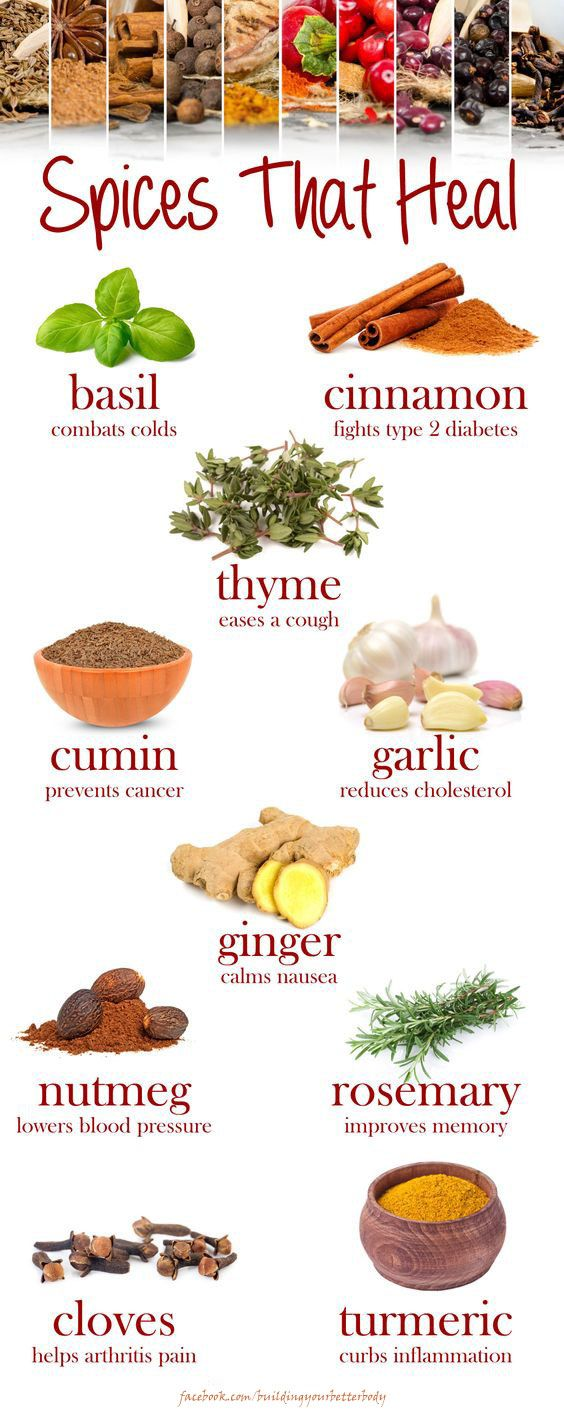 Spices and seasonings aren't just for flavor. For more great tips like this, join my free Clean Eating group on Facebook! https://www.facebook.com/groups/832151466890497/