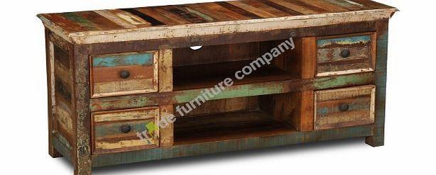 Trade Furniture Company Reclaimed Indian Furniture Small TV Cabinet -  Living Room Furniture No description (