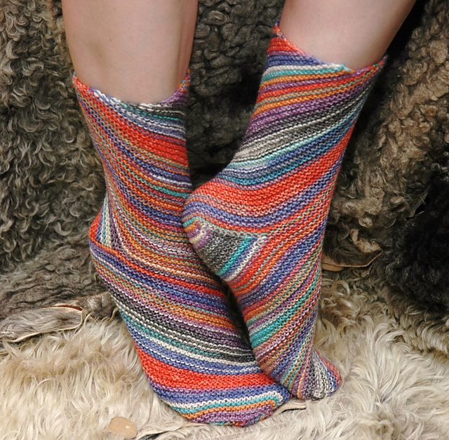 Knitting On The Bias Patterns : Free garter stitch on the bias socks ravelry exotic