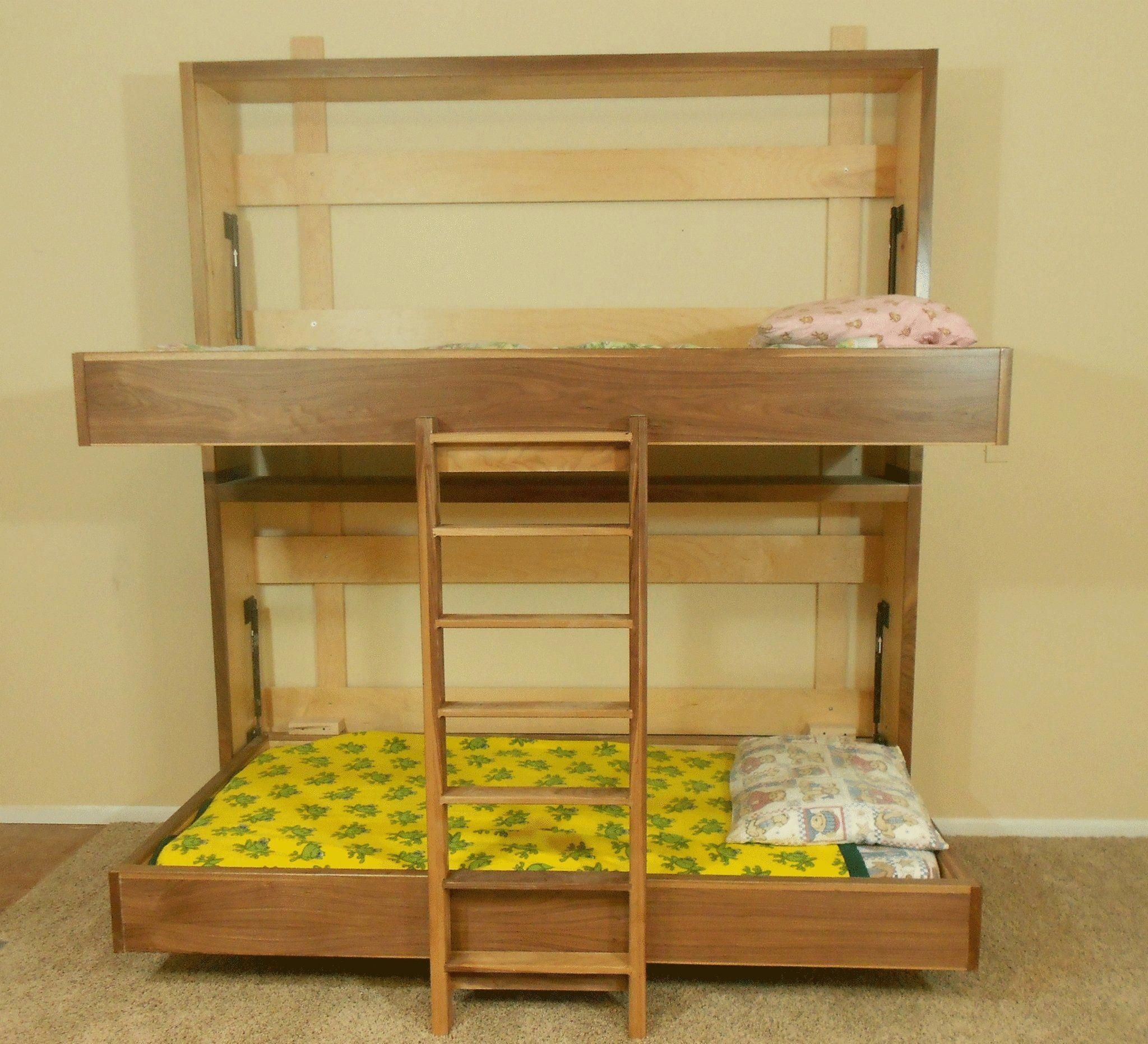 Loft bed with slide out desk  Image of Murphy Bunk Beds Diy Bunkbeds Design Ideas How To Make