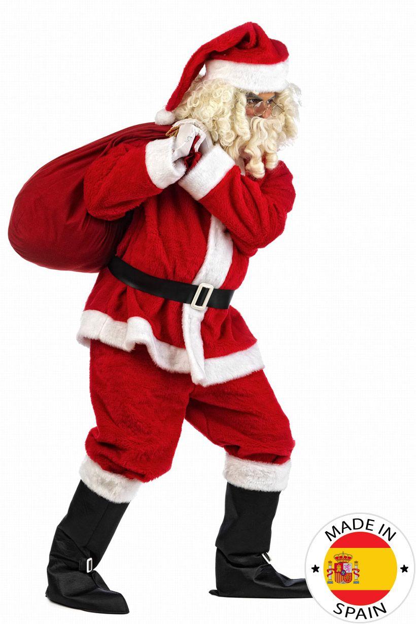 Déguisement Père Noël en peluche homme luxe   Ce déguisement de Père Noël  pour homme se 42b03efdfd7c