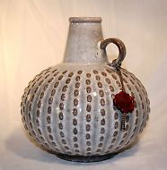 Schöne Keramik Vase Blumenvase JASBA Germany tolle Form mit Siegel um 1960