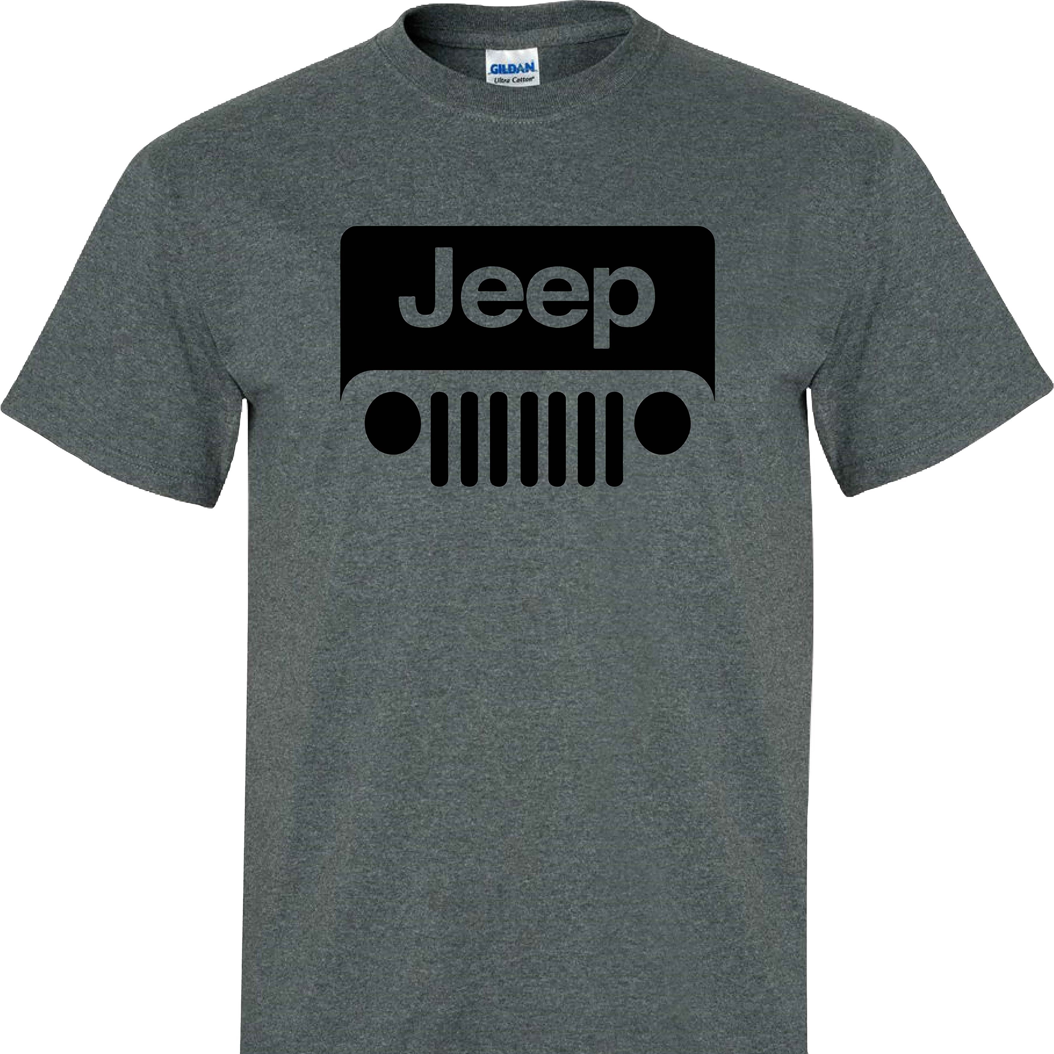 American Flag Off Road On A Dark Heather T Shirt Jeep Shirts