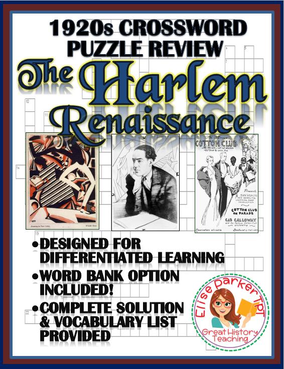 1920s Crossword Puzzle Review: Harlem Renaissance ...