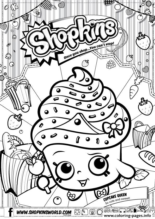 Print shopkins cupcake queen coloring pages