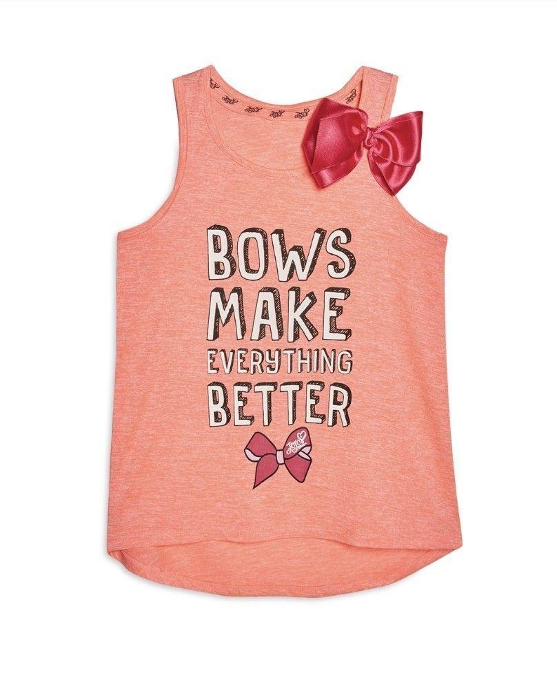 becf07e25f694 JOJO SIWA Girls Vest Dance Pink Bow Top Primark