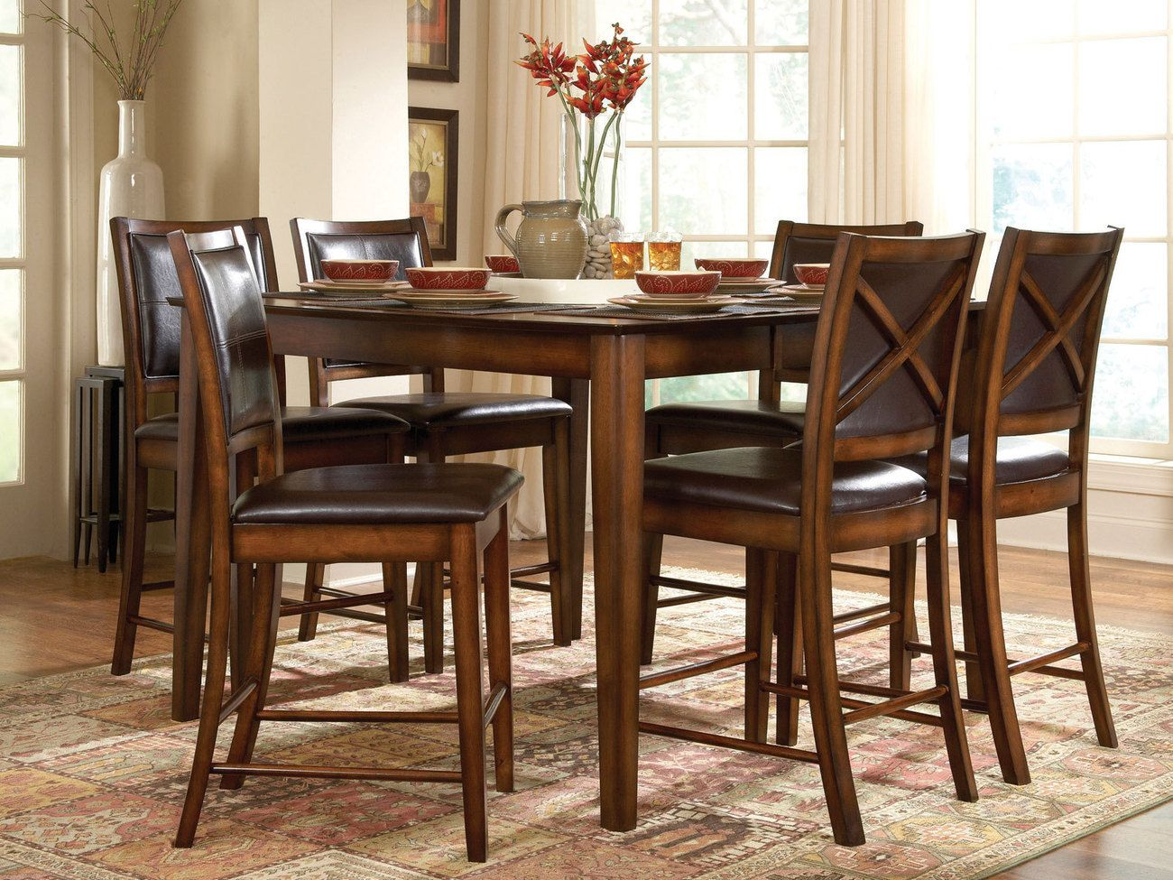 High Dining Room Table Sets | DINING FURNITURE | Pinterest | Dining ...