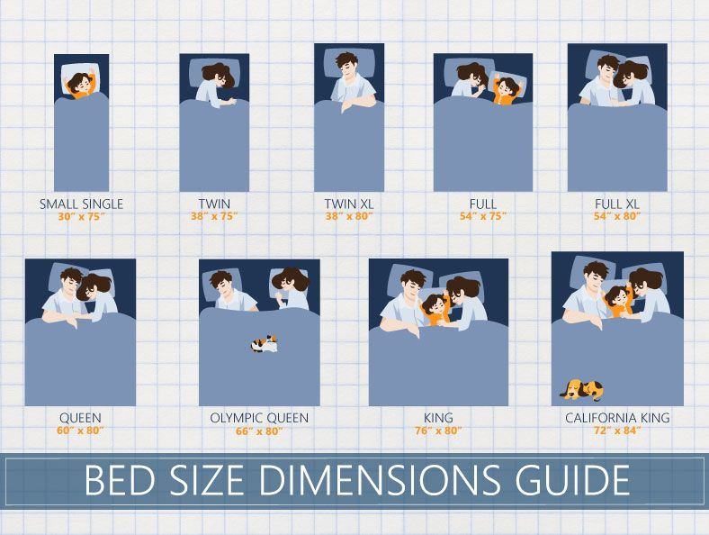 Bed size dementions guide | Mattress size chart, Bed sizes