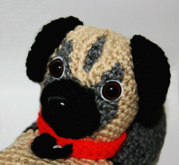 f809c15f916a Pug Slippers - Funny Sock Slippers - Slipper Socks - Cool Sock Slippers - Adult  Slippers - Crochet D