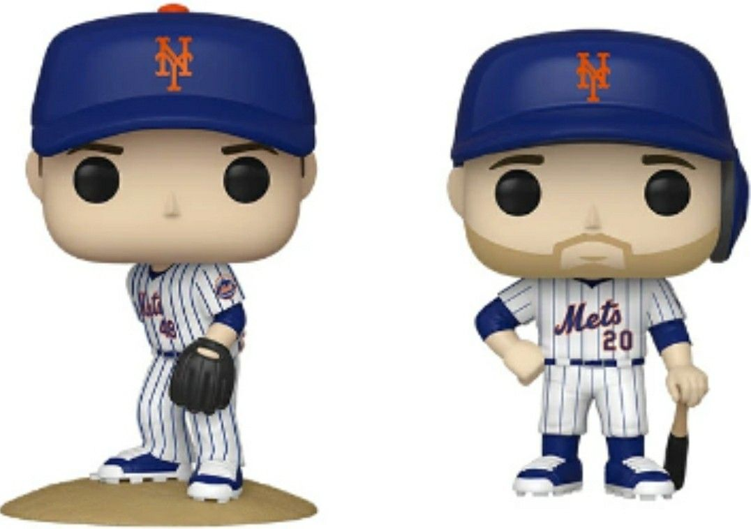 Mlb Mets Funko Pop Jacob Degrom And Pete Alonso In 2020 Mlb Mets Mario Characters Jacob Degrom